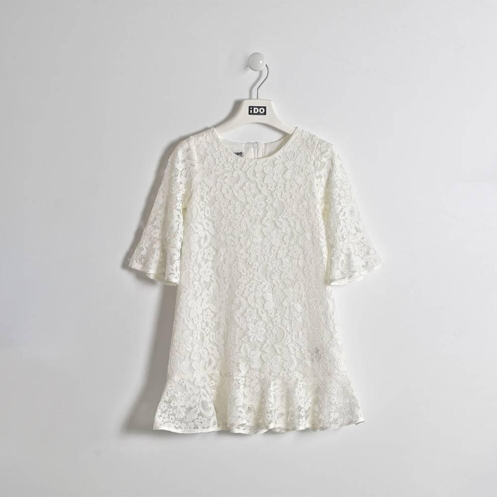 Платье для девочки iDO нарядное кружевное рукав 3/4 с воланом 4.W552.00/0112
