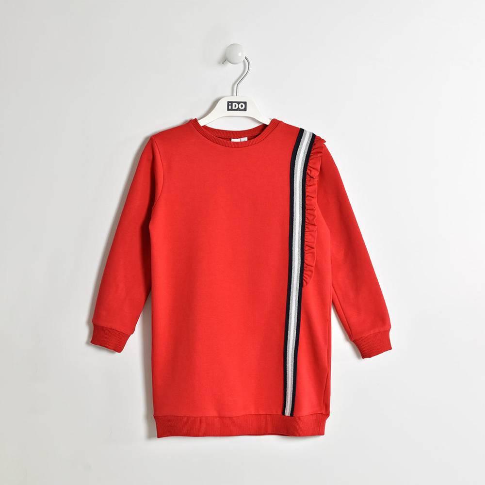Платье для девочки iDO теплое флис длинный рукав 4.W555.00/2256