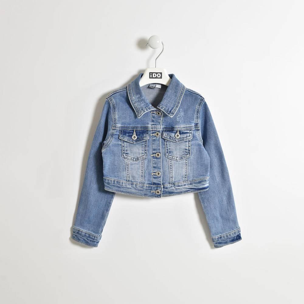 Куртка для девочки iDO джинсовая байкерская 4.W575.00 / 7350