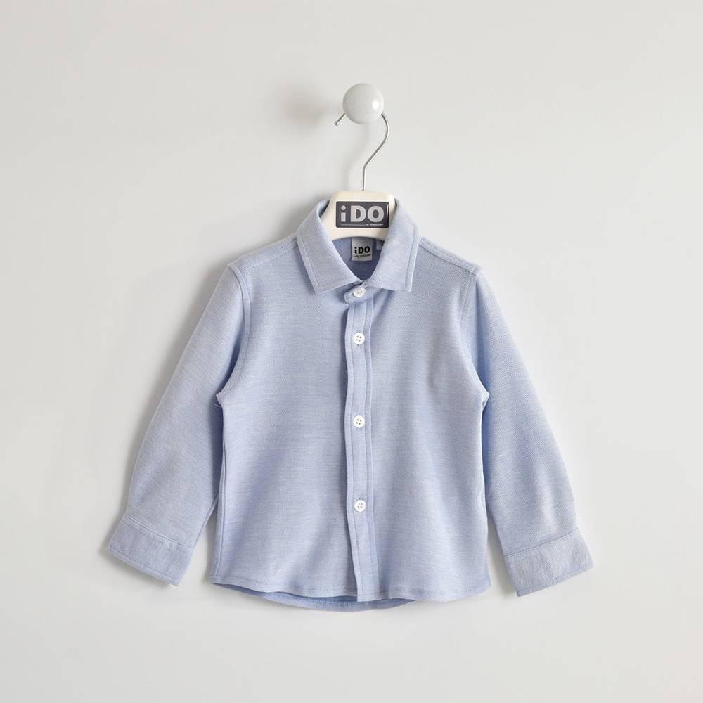 Рубашка для мальчика iDO трикотажная хлопок классическая 4.W201.00/3621