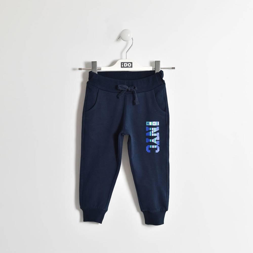 Штаны для мальчика iDO спортивные трикотажные хлопковые на манжете 4.W232.00