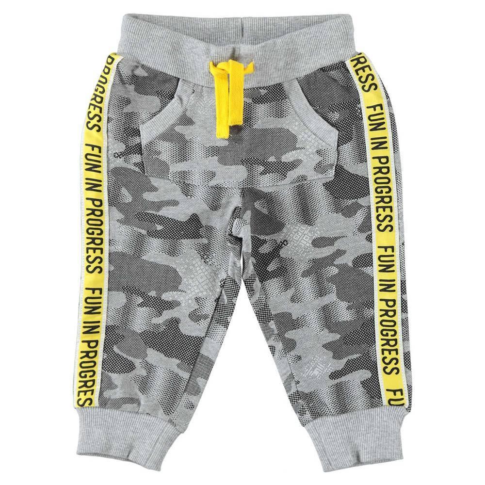 Штаны для мальчика iDO спортивные трикотажные хлопковые серый камуфляж 4.W234.00/6FU8