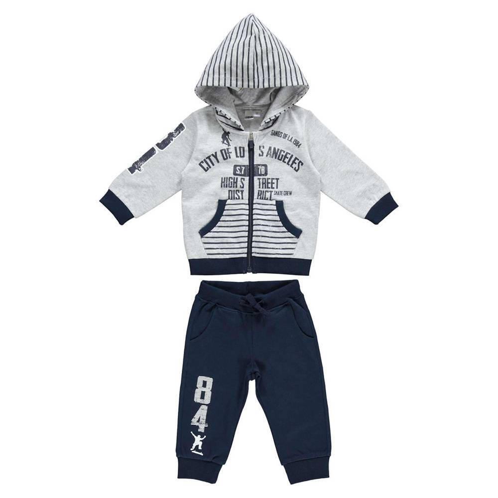 Комплект для мальчика iDO спортивный толстовка с капюшоном штаны 4.W250.00