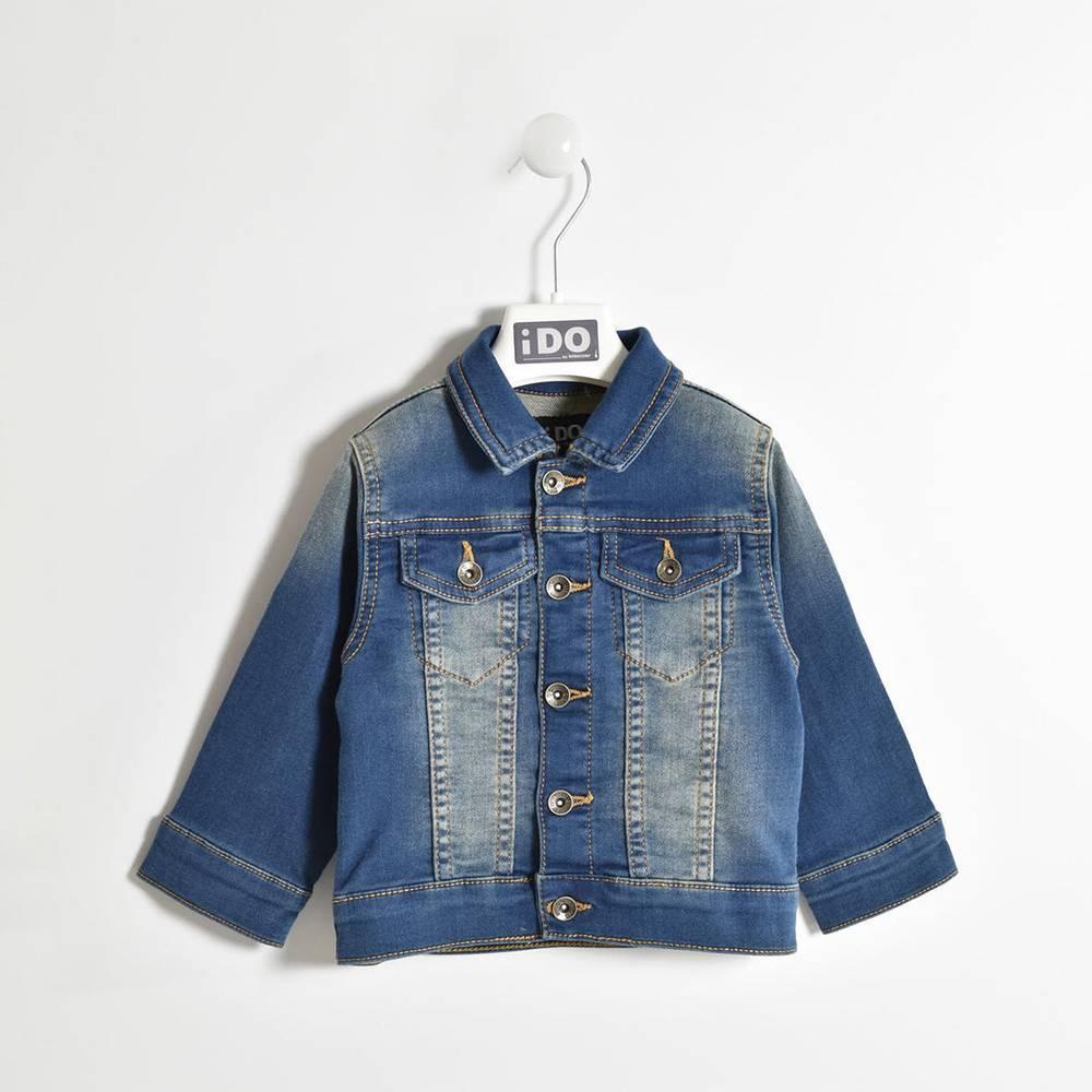 Куртка для мальчика iDO демисезонная джинсовая 4.W265.00/7450