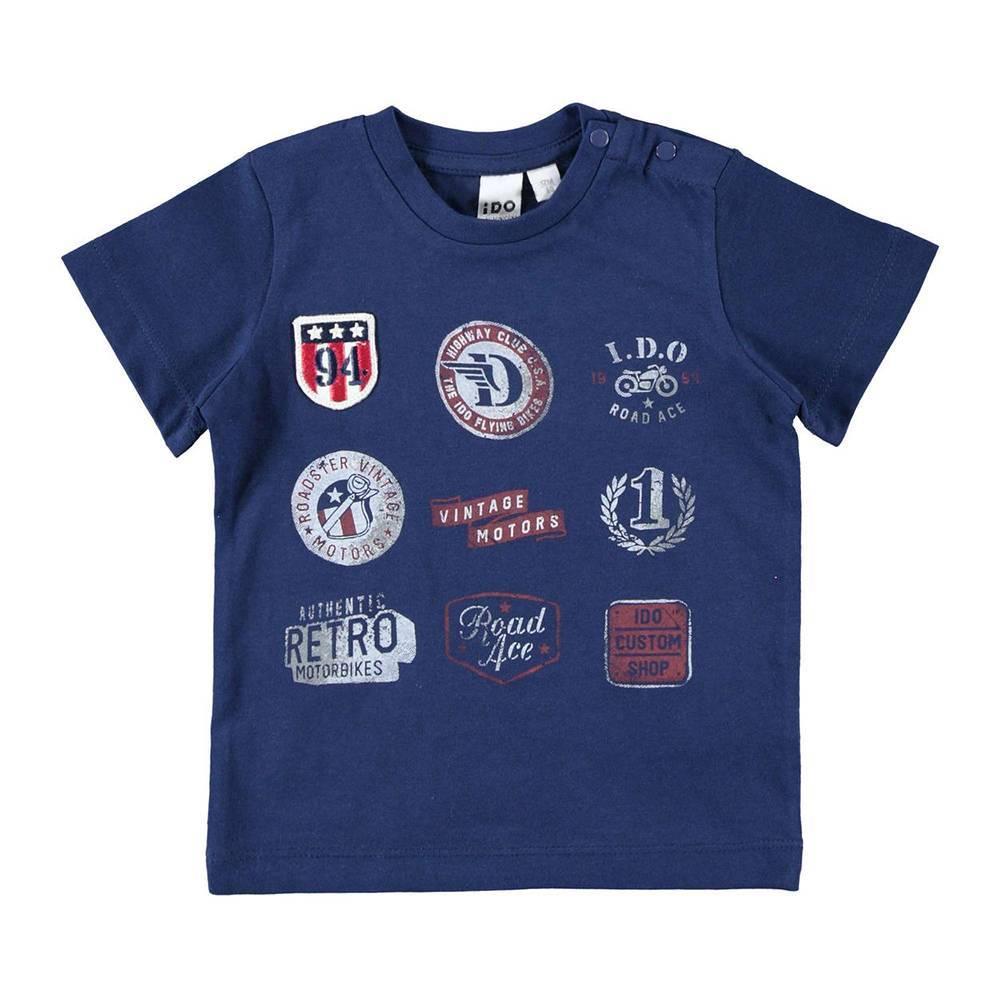 Футболка для мальчика iDO хлопок трикотаж эмблемы спорта 4.W677.00/3547