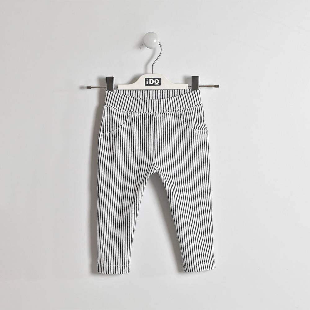 Леггинсы для девочки iDO трикотажные летние хлопковые полосатые 4.W346.00/3854