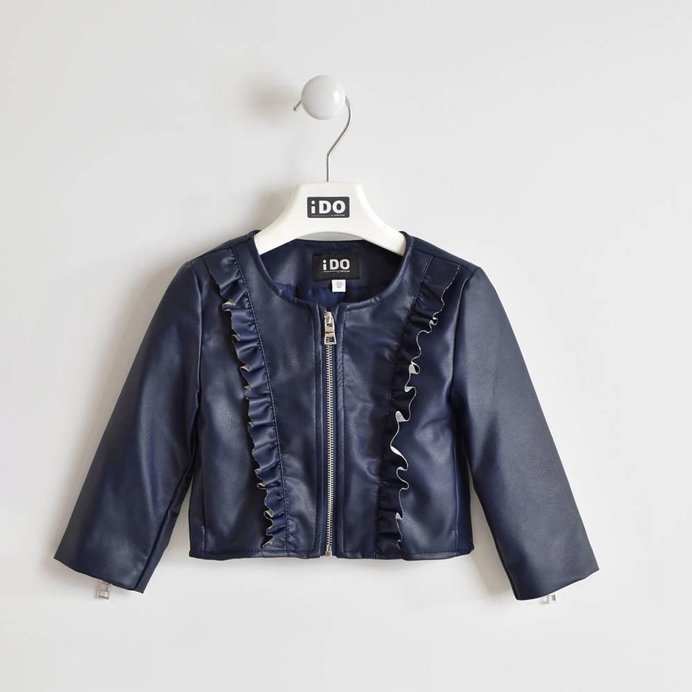 Куртка бомбер для девочки iDO экокожа 4.W361.00/3854