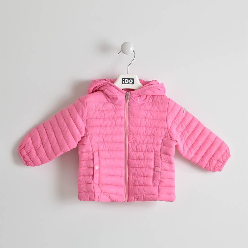 Куртка для девочки iDO демисезонная стеганная приталенная с капюшоном 4.W009