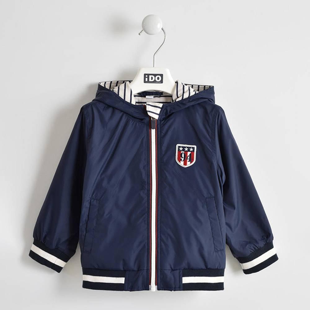 Куртка для мальчика iDO ветровка демисезонная с капюшоном 4.W267.00/3885