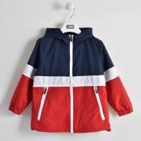 Куртка для мальчика iDO демисезонная спортивная двухцветная с капюшоном 4.W438.00/2256