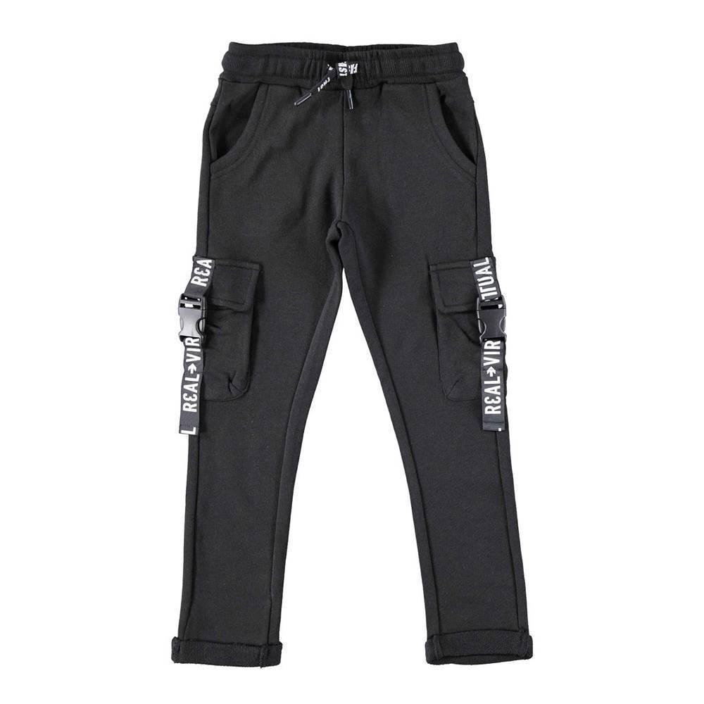 Штаны для мальчика iDO спортивные карго трикотаж меланж 4.W416.00/0658
