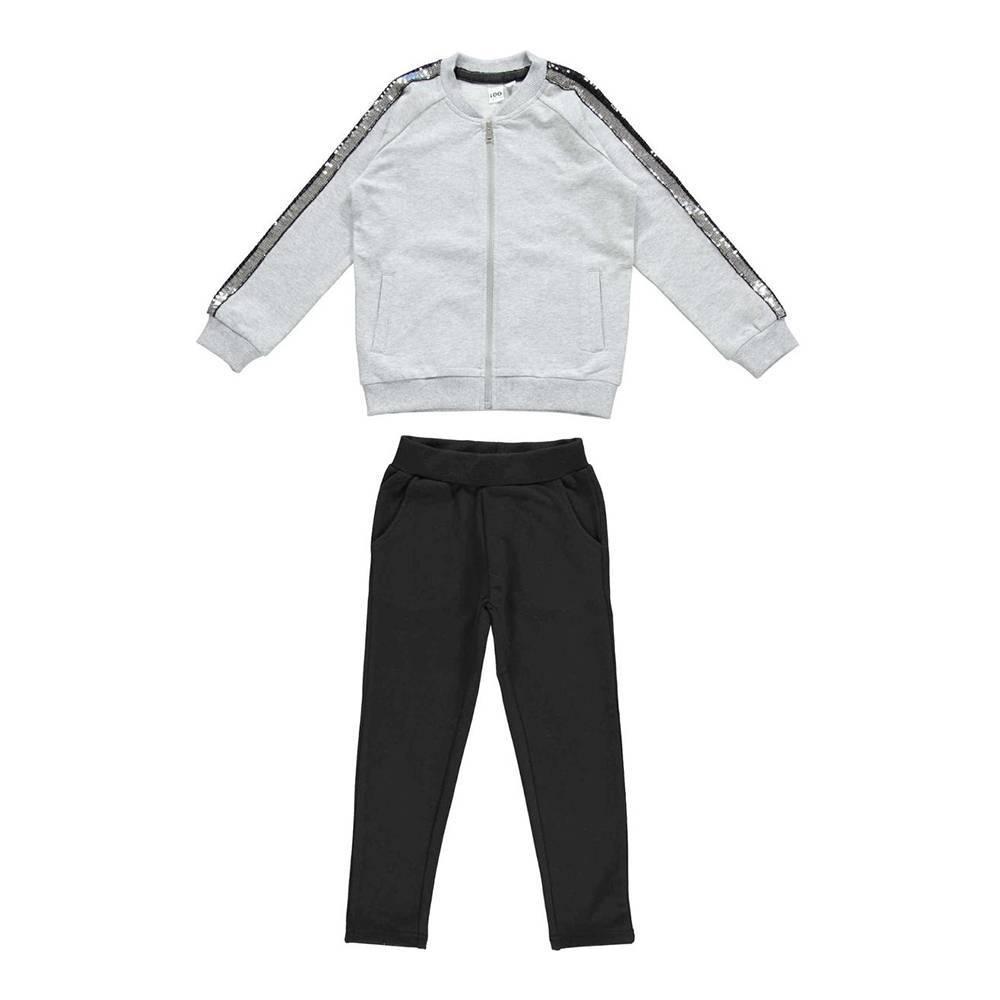 Комплект для девочки iDO спортивный толстовка штаны трикотаж хлопок 4.W585