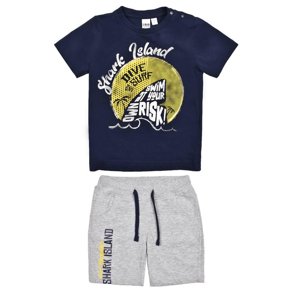 Комплект для мальчика iDO летний хлопок трикотаж футболка шорты 4.W007.00/8299