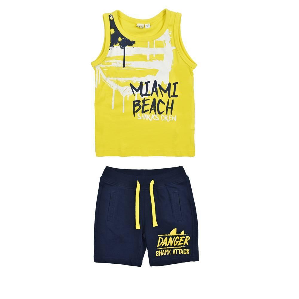 Комплект для мальчика iDO спортивный хлопок трикотаж майка принт шорты 4.W008.00/8017