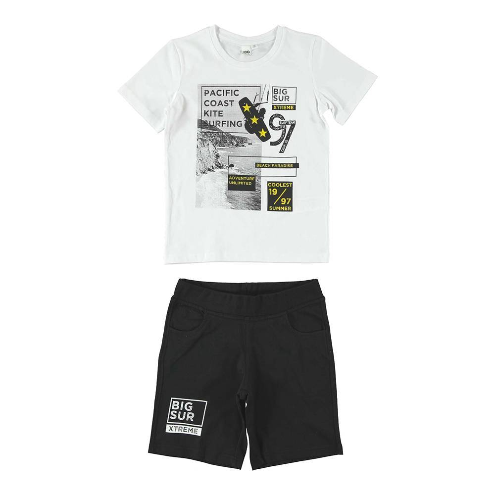 Комплект для мальчика iDO летний хлопок трикотаж принт 4.W016.00/8057
