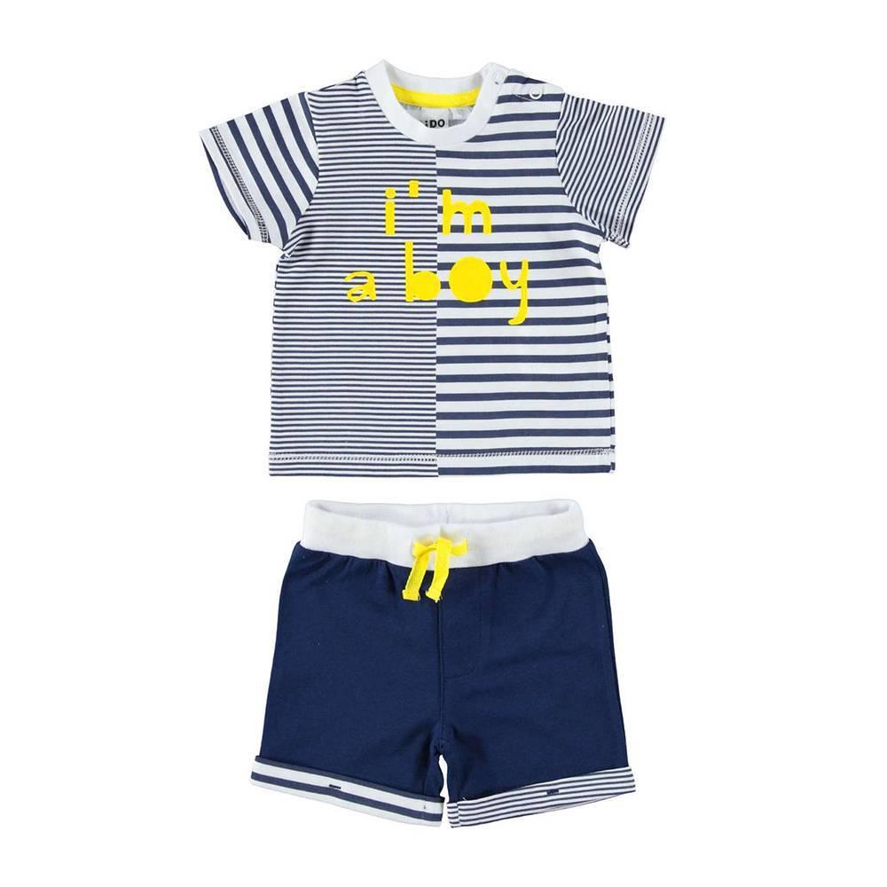 Комплект для мальчика iDO летний хлопок трикотаж футболка шорты принт 4.W614.00/3547