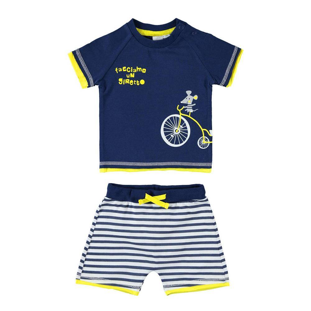 Комплект для мальчика iDO летний трикотаж бавовна принт футболка шорты 4.W615.00/3547
