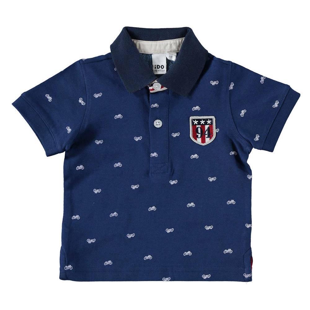 Поло футболка для мальчика iDO хлопок трикотаж аппликация 4.W675.00