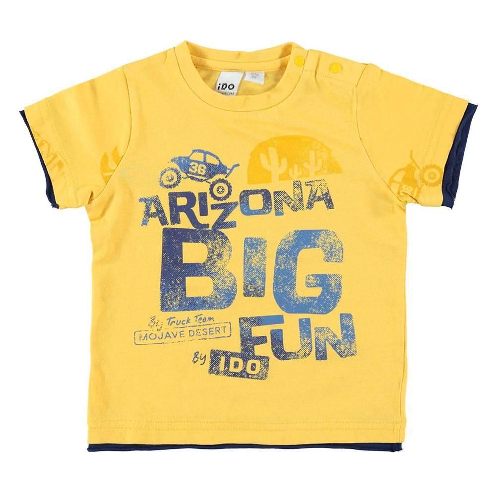 Футболка для мальчика iDO футболка хлопок принт 4.W683.00/1441