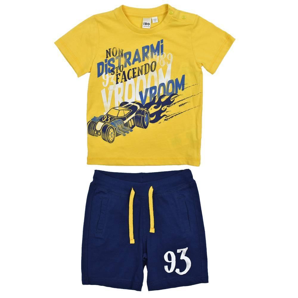 Комплект для мальчика iDO спортивный летний хлопок трикотаж футболка шорты 4.W730.00/8017