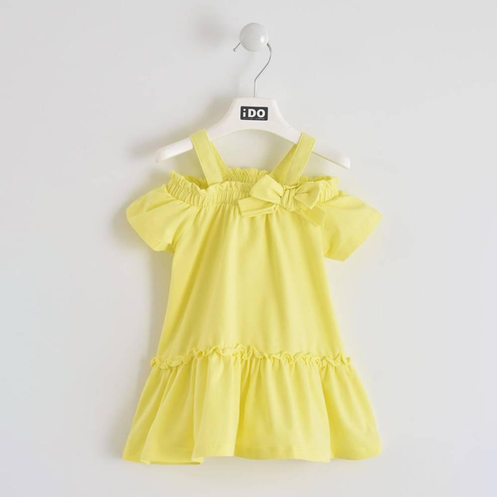 Платье для девочки iDO хлопок трикотаж с оборкой 4.W753.00/1417