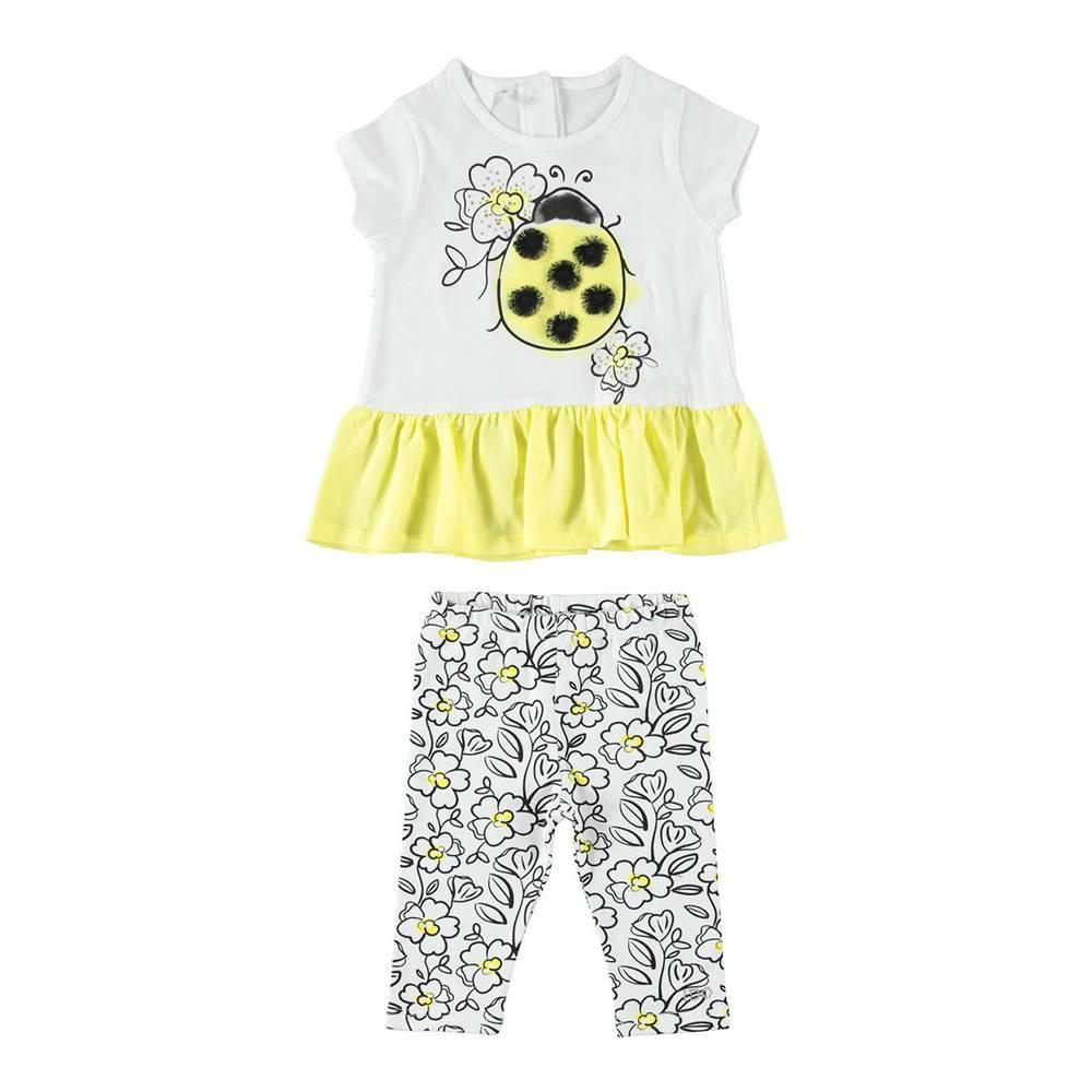 Комплект для девочки iDO хлопок трикотаж футболка леггинсы 4.W793.00/8057