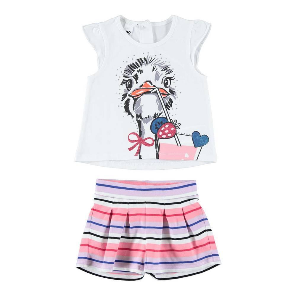 Комплект для девочки iDO трикотаж бавовна футболка шорты 4.W796.00