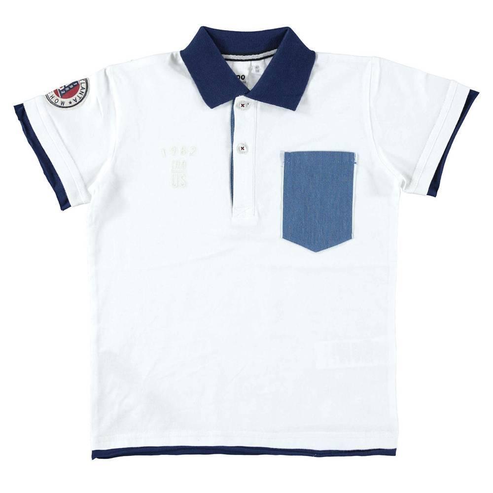 Поло футболка для мальчика iDO бавовна трикотаж 4.W805.00/0113