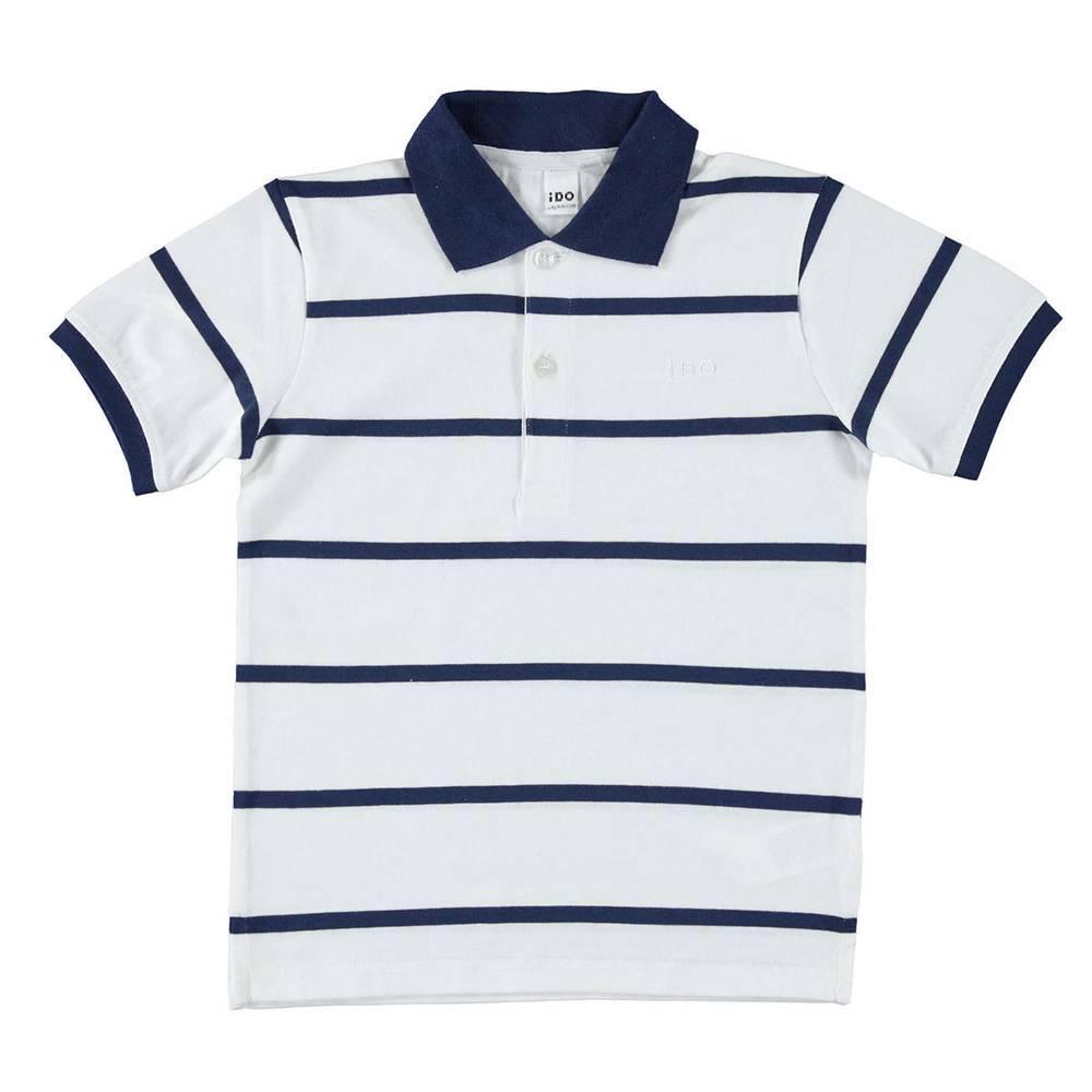 Поло футболка для мальчика iDO хлопок трикотаж 4.W822.00