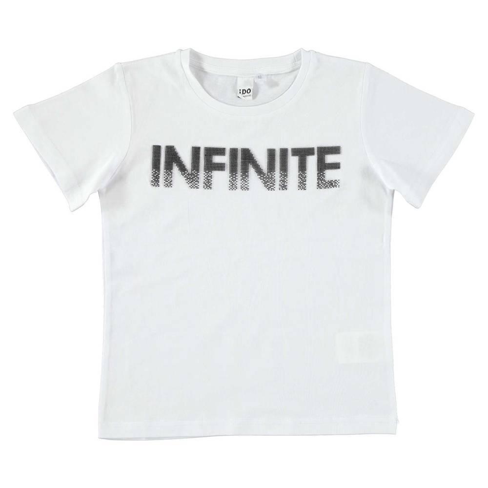 Футболка для мальчика iDO подростка хлопок трикотаж принт Infinite 4.W824.00/0113