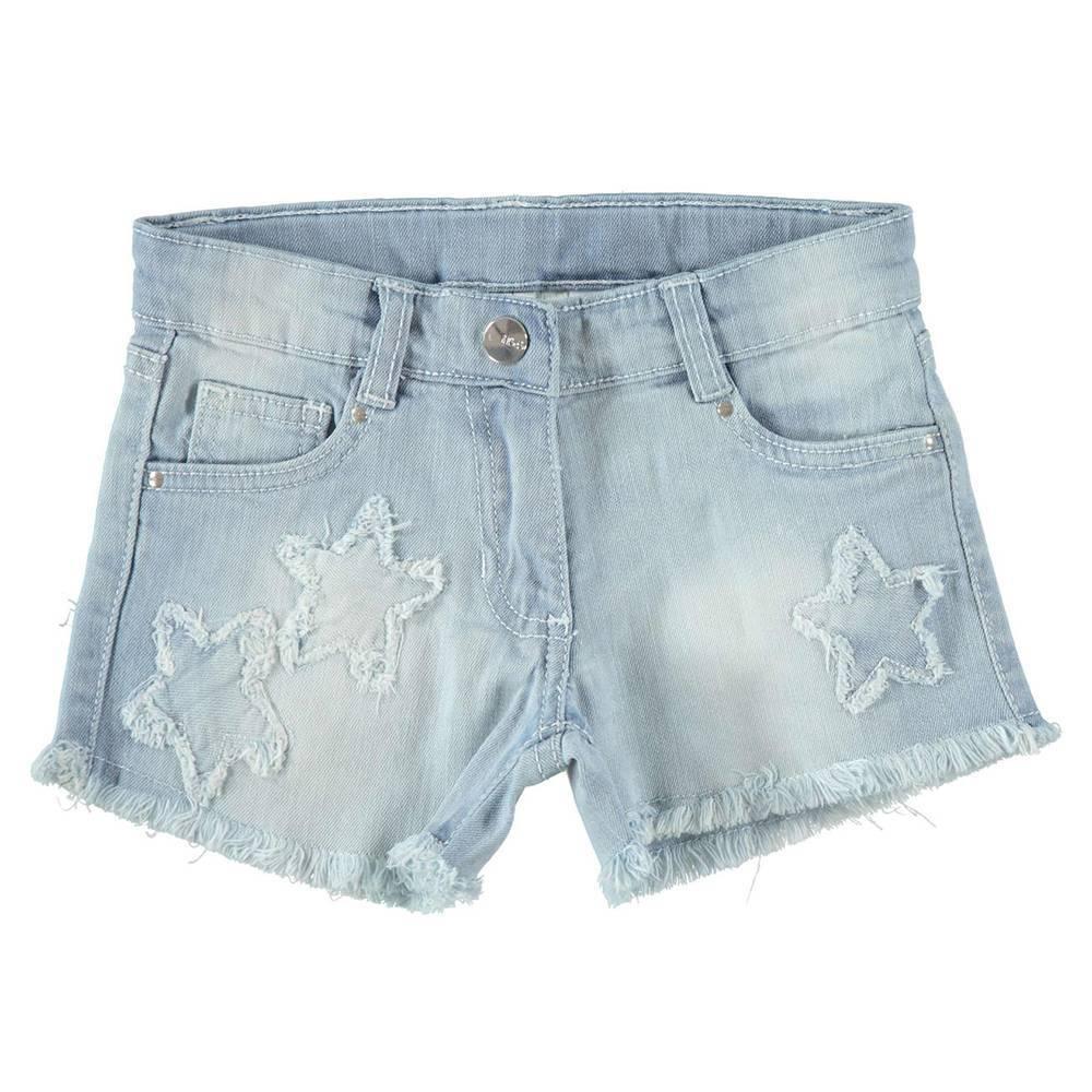 Шорты для девочки IDO подростка вишивка джинсовые короткие 4.W890.00/7300
