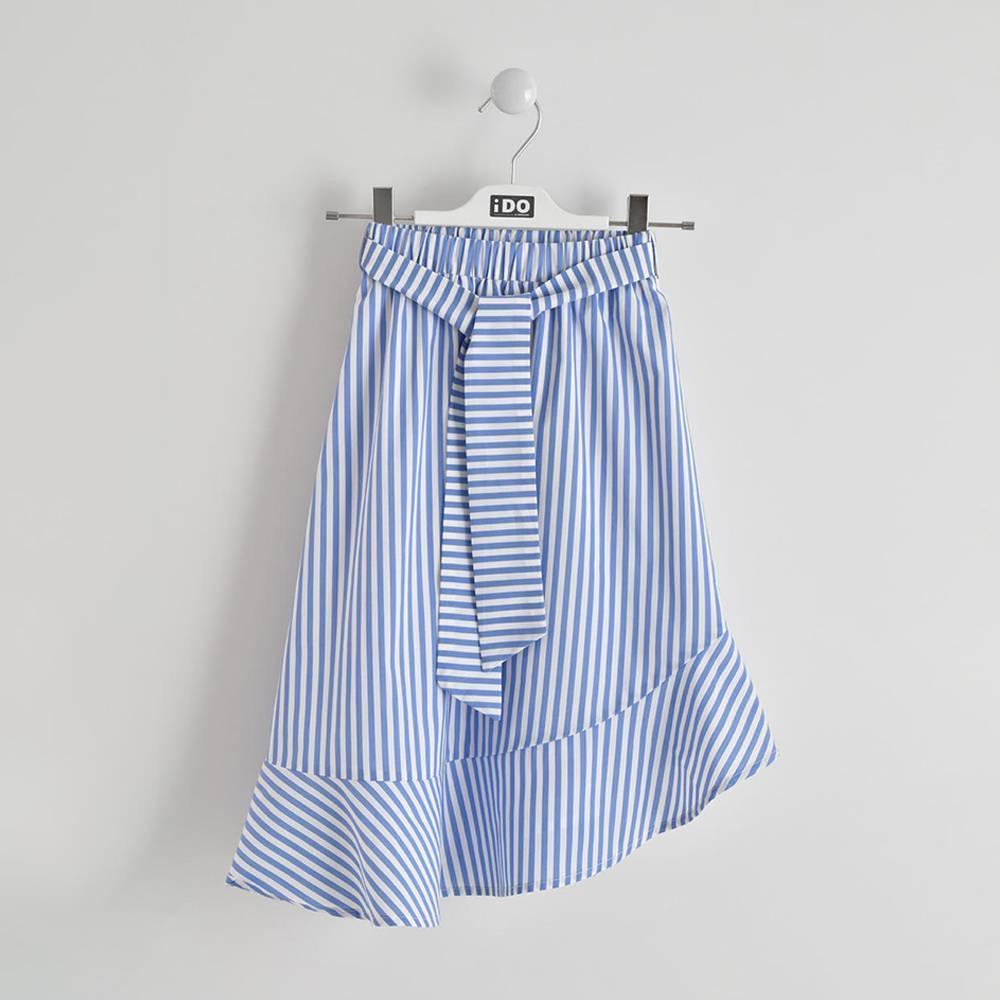 Юбка для девочки iDO подростка полосатая ассиметричный подол 4.W900.00/3616