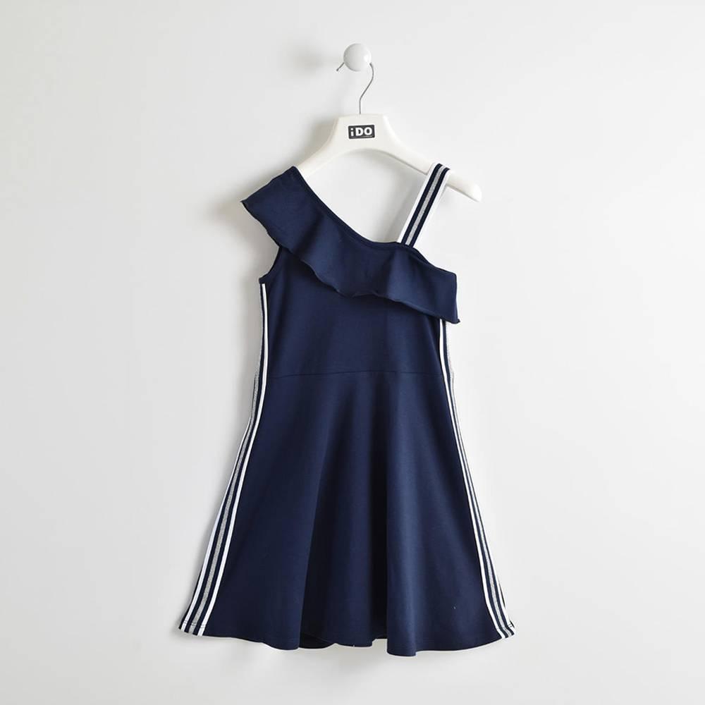 Платье для девочки iDO летнее подростка хлопок трикотаж блестки 4.W910.00/3854