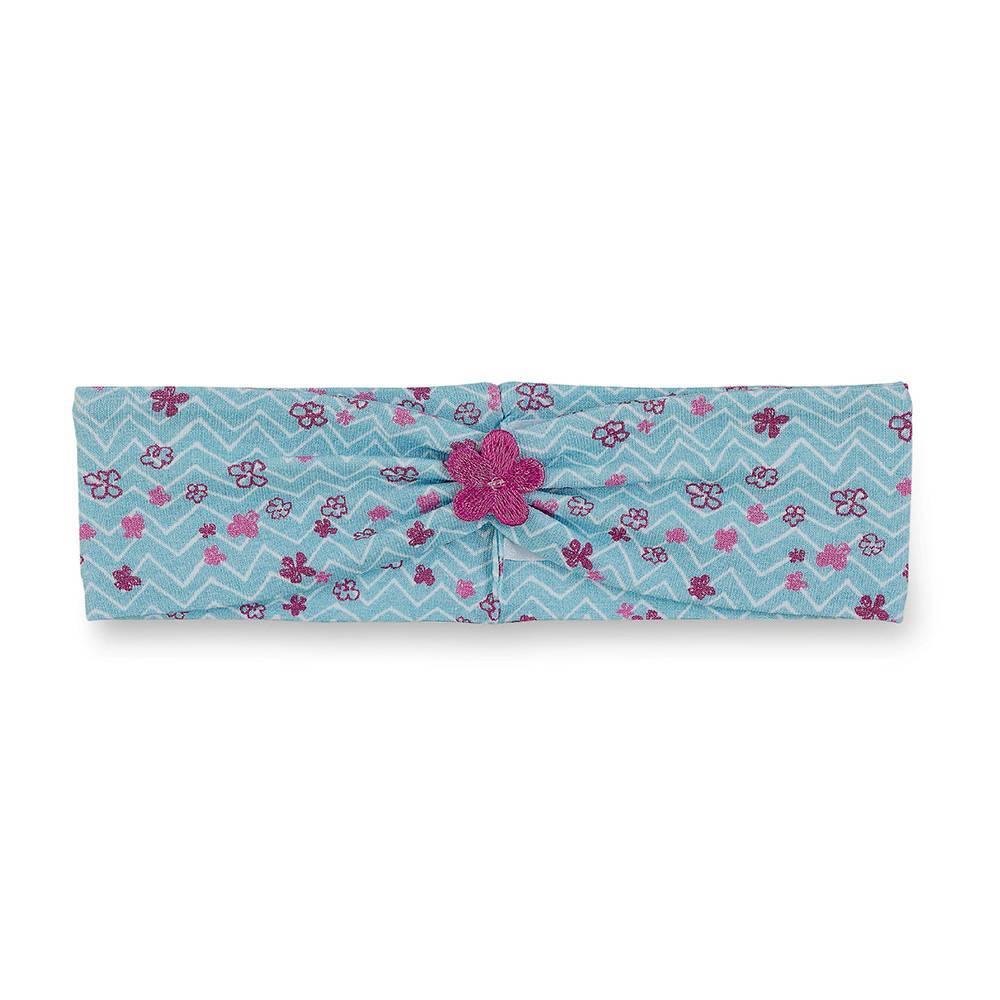Повязка на голову для девочки STERNTALER голубой принт трикотаж 1801906/309