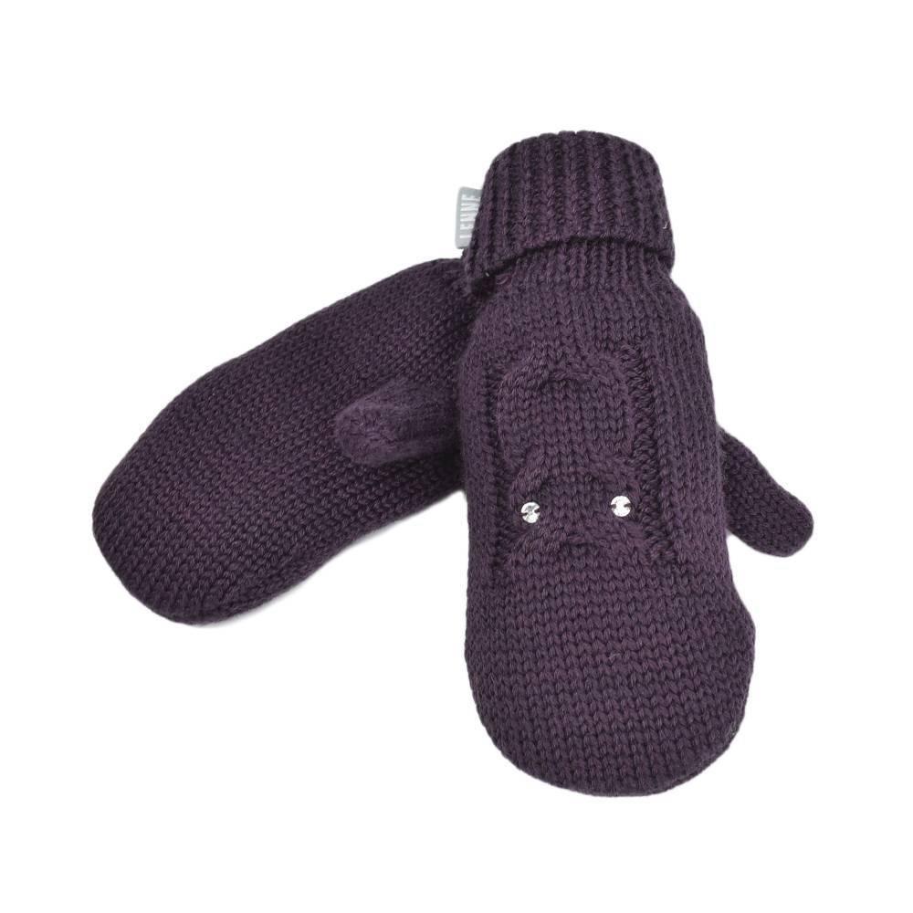 Перчатки зимние для девочки LENNE вязаные 19345/254 JARA