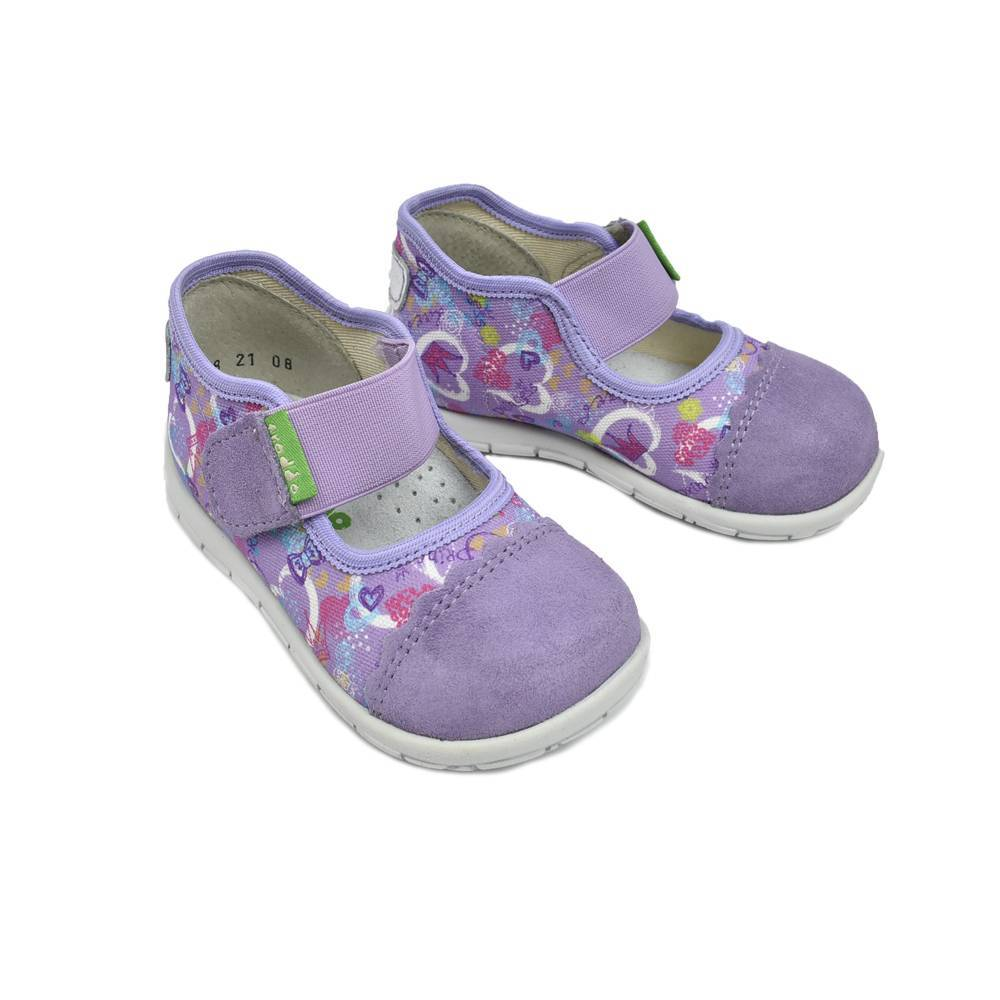 Тапочки для девочки Froddo текстиль на липучках G1700218-2lila