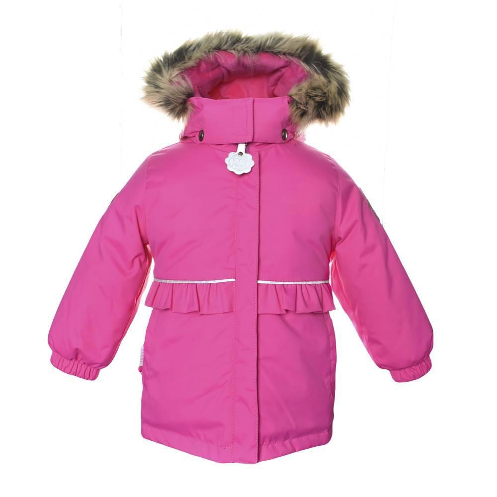 Куртка для девочки LENNE зимняя с капюшоном розовый ODELE