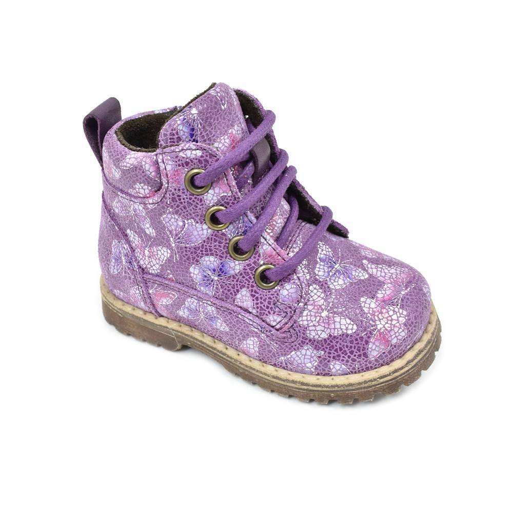 Ботинки для девочки Froddo демисезонные молния натуральная кожа G2110076-2/violet