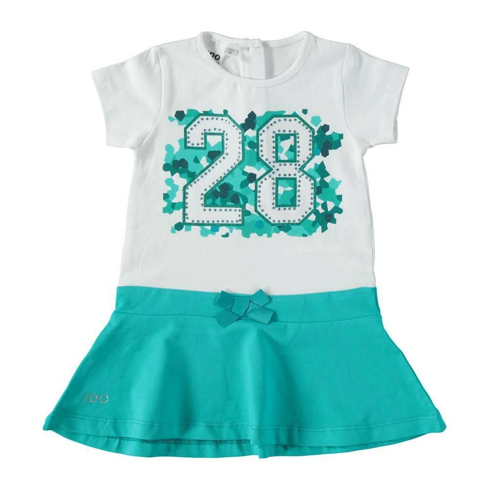 Платье для девочки iDO летнее хлопок трикотаж 4.S775.00/8036