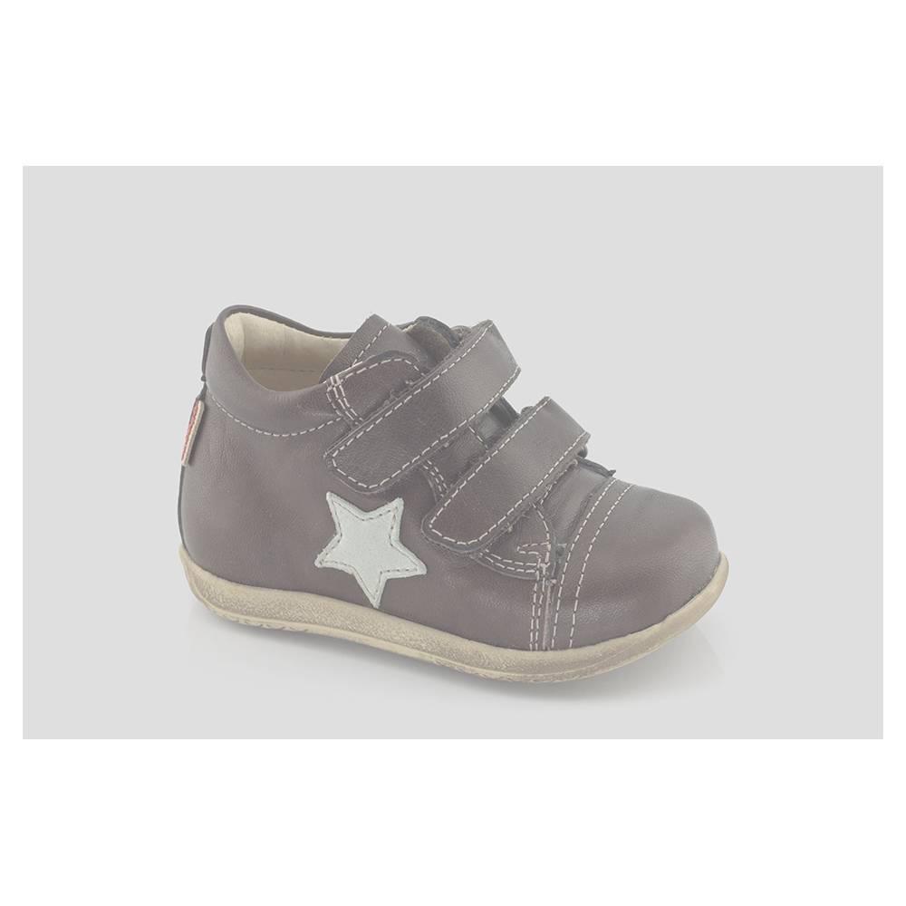 Ботинки для мальчика Froddo натуральная кожа демисезонные на липучках G2110030-3/Brown