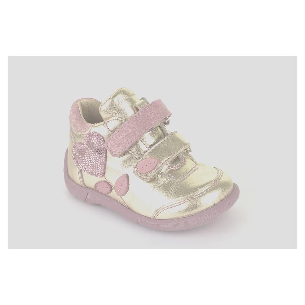 Ботинки для девочки Froddo нарядные кожаные на липучках G2130118/gold
