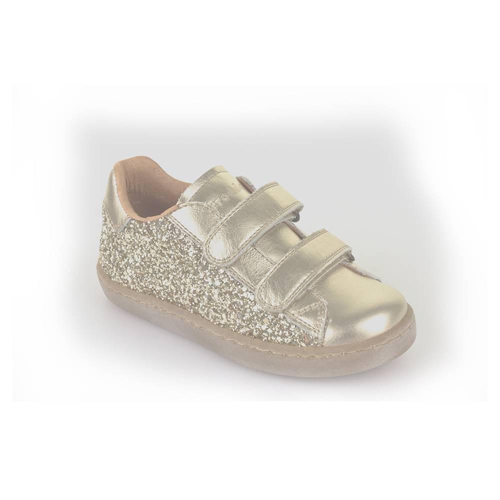 Кроссовки для девочки Froddo нарядные на липучках G3130094-7/gold