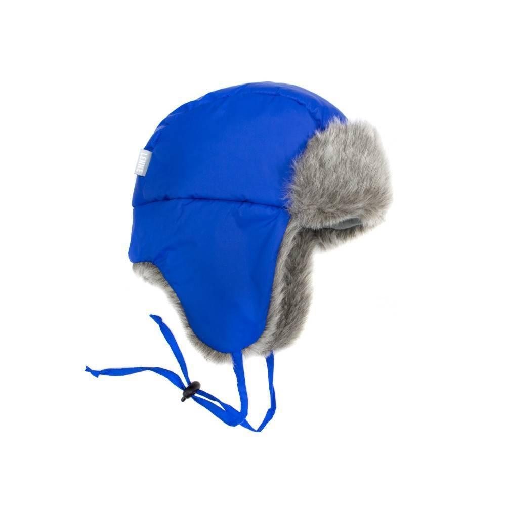 Шапка ушанка для мальчика LENNE зимняя голубая ALDO