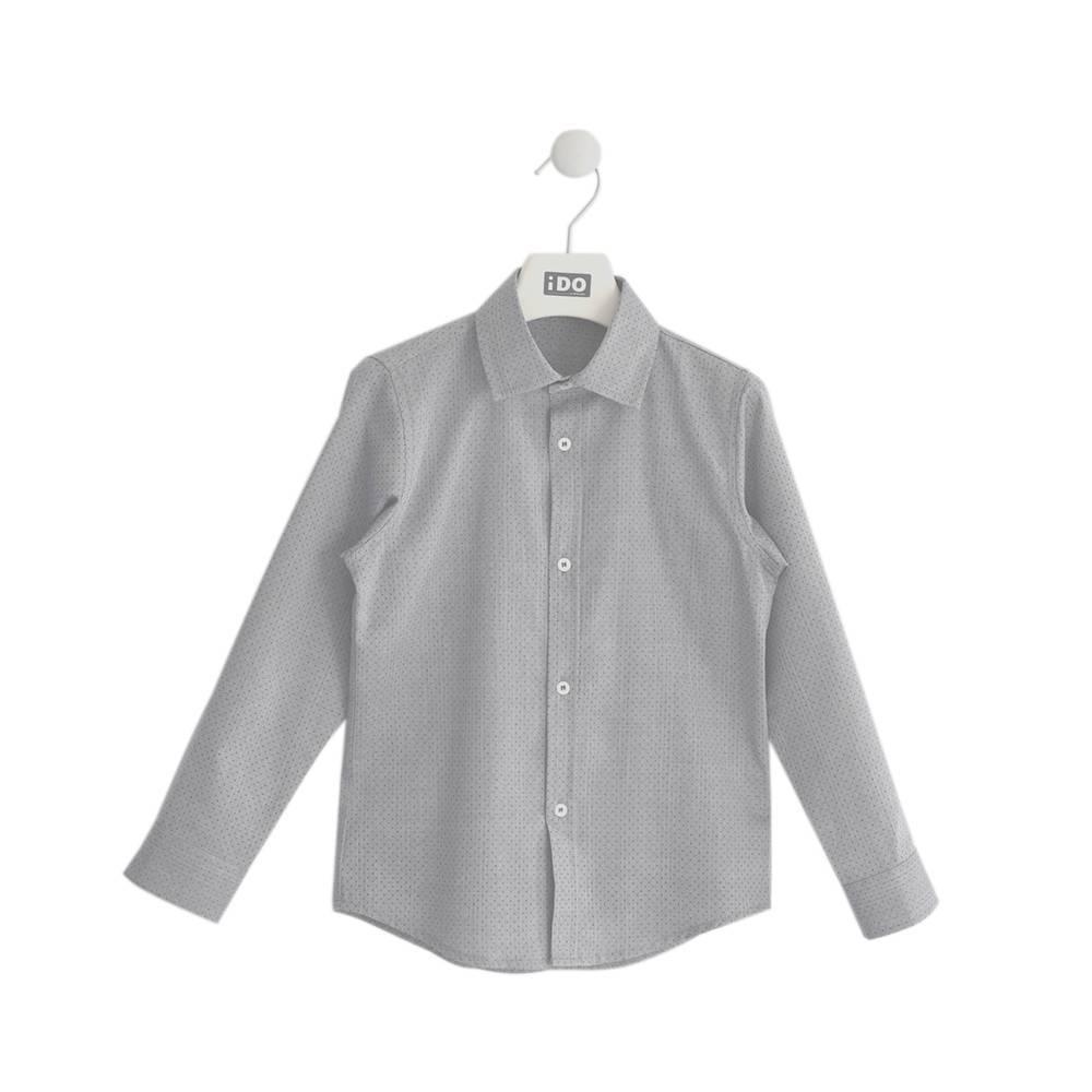 Рубашка для мальчика iDO подросток жаккардовый узор ворот апаш 4.K712.00/0516