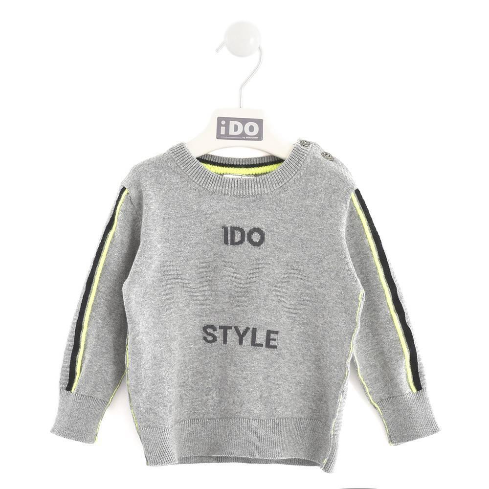 Реглан для мальчика iDO теплый трикотаж флуоресцентные штрихи 4.K585.00/8970