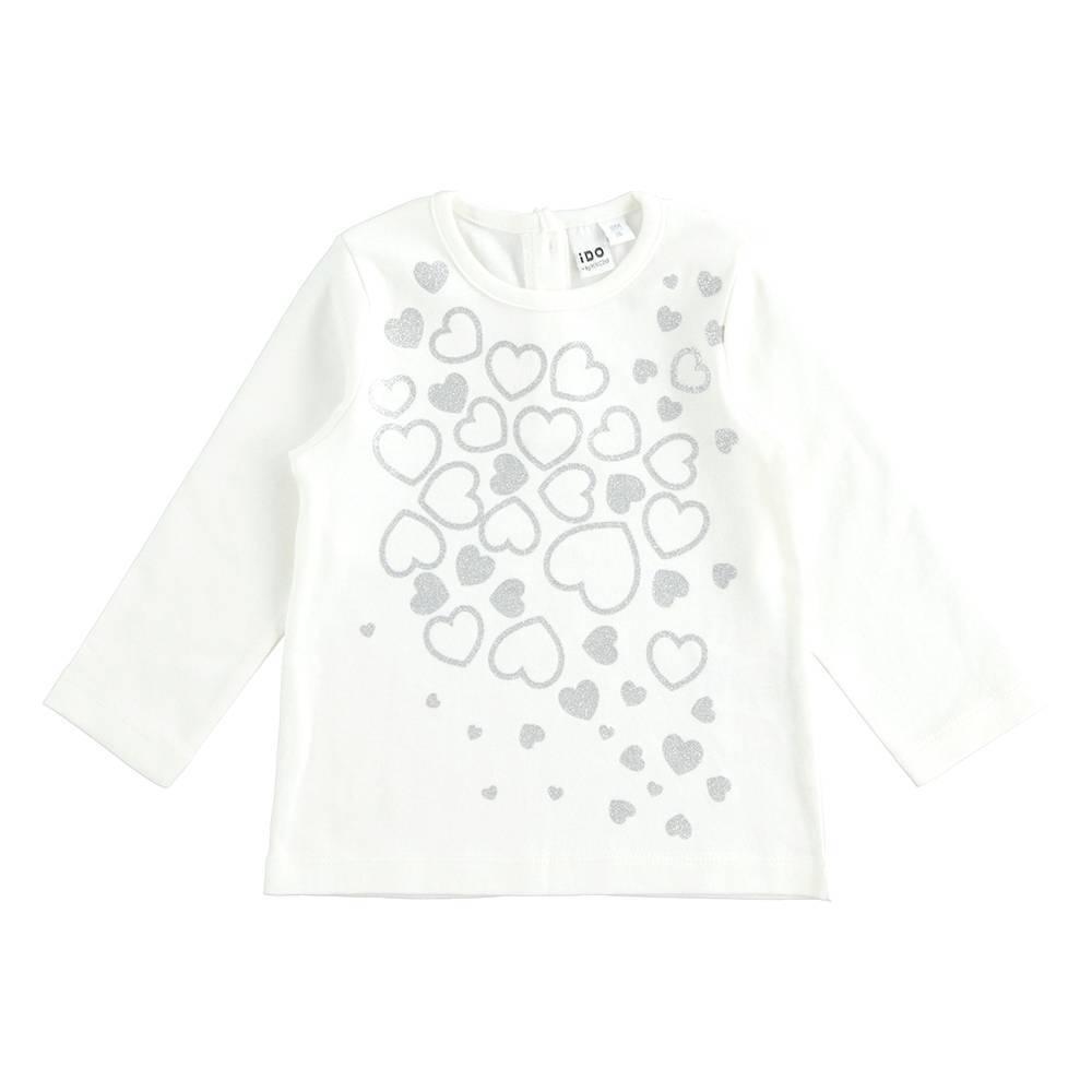 Реглан для девочки iDO трикотаж хлопок пайетки сердечки 4.K304.00/0112