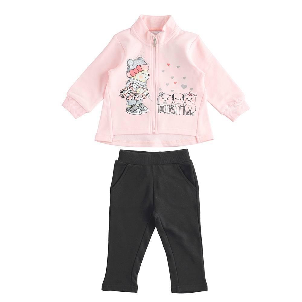 Комплект для девочки iDO спортивный толстовка штаны 4.K679.00/8328
