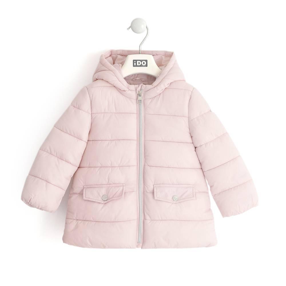 Куртка для девочки iDO демисезонная стеганная с капюшоном 4.K692.00/2715