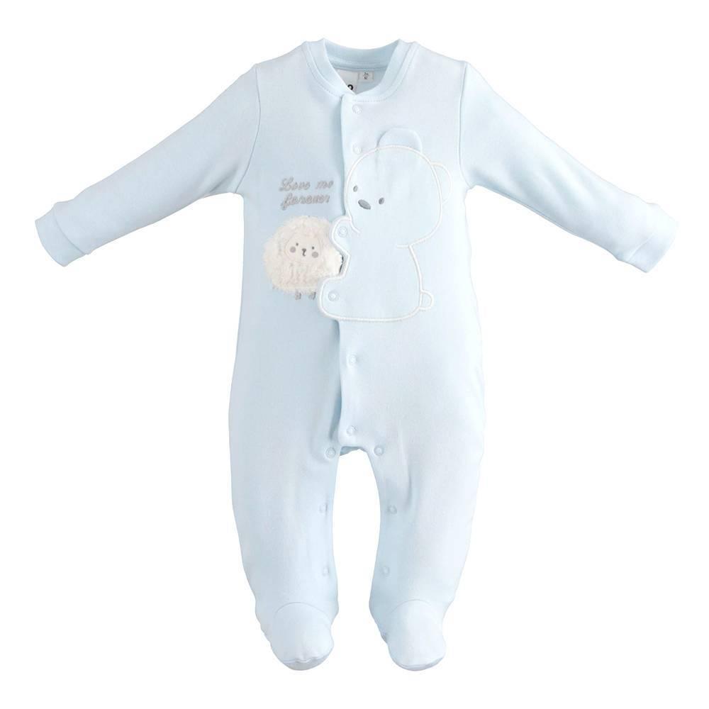 Человечек детский iDO комбинезон велюровый аппликация застежка спереди 4.K210.00/5819
