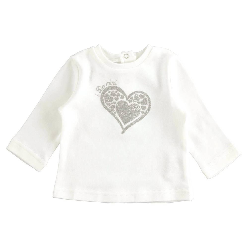 Реглан для девочки iDO хлопок трикотаж графика сердечек 4.K402.00/0112